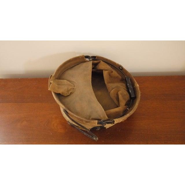 Vintage Canvas Army Bucket - Image 4 of 5