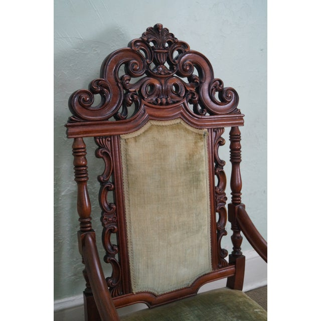 Antique 19th Century Heavily Carved Throne Chair - Image 5 of 10 - Antique 19th Century Heavily Carved Throne Chair Chairish