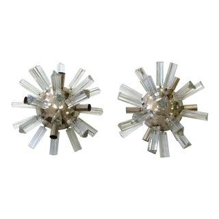 Sputnik Venini Style Glass Sconces - A Pair