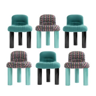 Set of Six Cini Boeri Botolo Chairs for Arflex