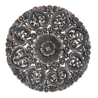 Burmese Carved Panel in Antique Burn