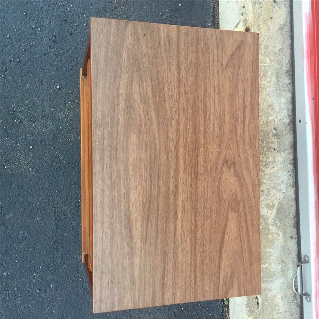 Mid-Century Modern Two Drawer Nightstand - Image 7 of 7