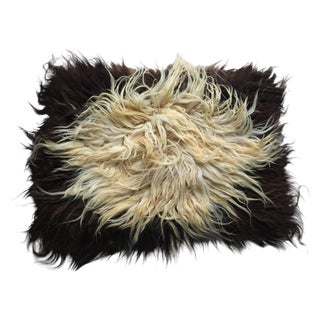 "Handmade Natural Wool Shaggy Tulu Rug - 3'6"" X 2'8"""