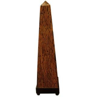 Art Deco Wooden Lacquer Obelisk