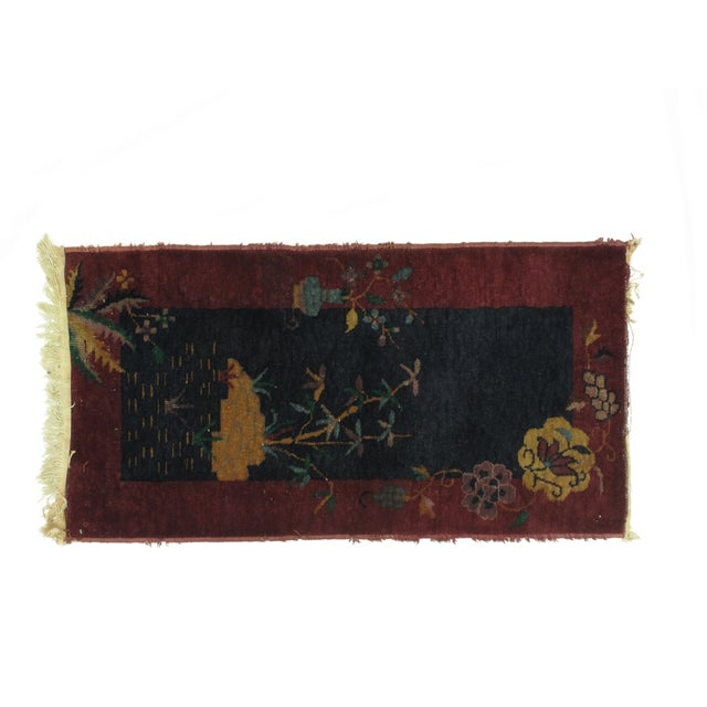 Leon Banilivi Art Deco Chinese Rug - 2′ × 3′10″ - Image 2 of 4