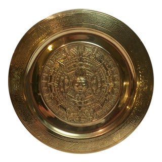 Vintage Solid Brass Wall Hanging Plate