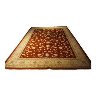 Antique Rust Red Handmade Rug - 9' x 12'