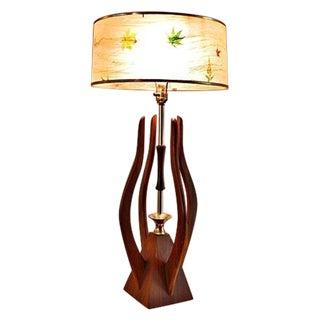 Danish Mid Century Teak Table Lamp