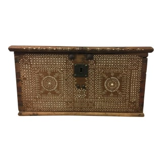 Antique Inlaid Moroccan Trunk