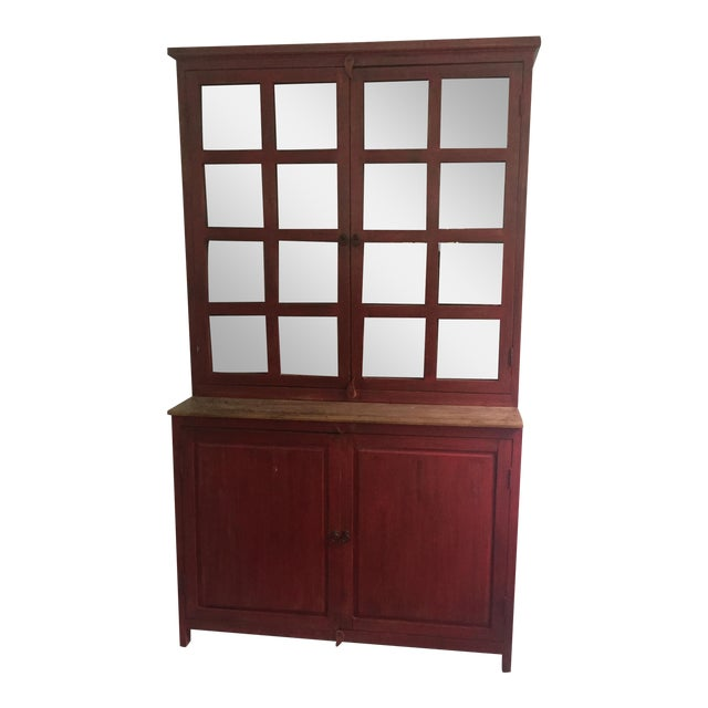 Red Farm Style 2 Piece Pine China Cabinet - Image 1 of 11