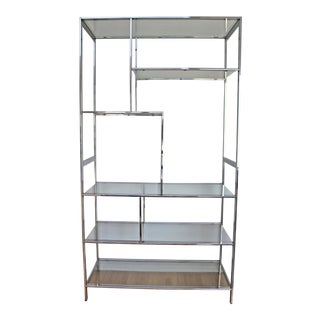 1970s Chrome & Glass Etagere