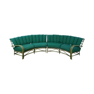 Mid-Century Modern Rattan Sectional
