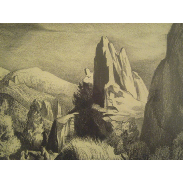 Image of 1943 Red Rock Canyon Lithograph