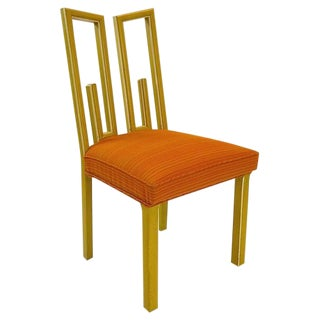 Set of Four Dining Chairs by James Mont with Decorative Greek Key Design