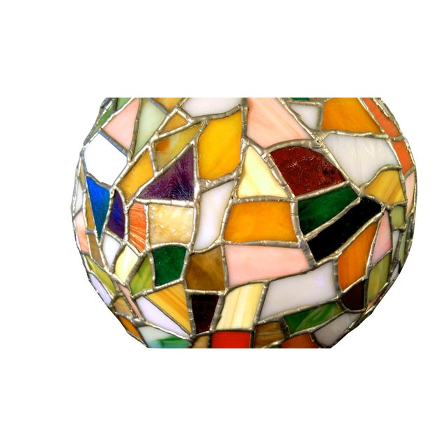 Mid-Century Mosaic Globe Pendant Lamp - Image 4 of 8