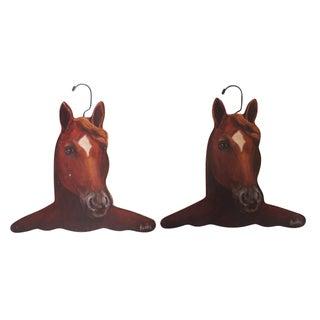 Equestrian Horse Head Hangers - Pair