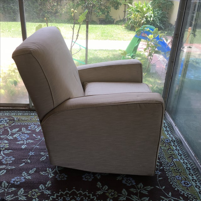 Classic Glider Recliner Club Chair - Image 4 of 11