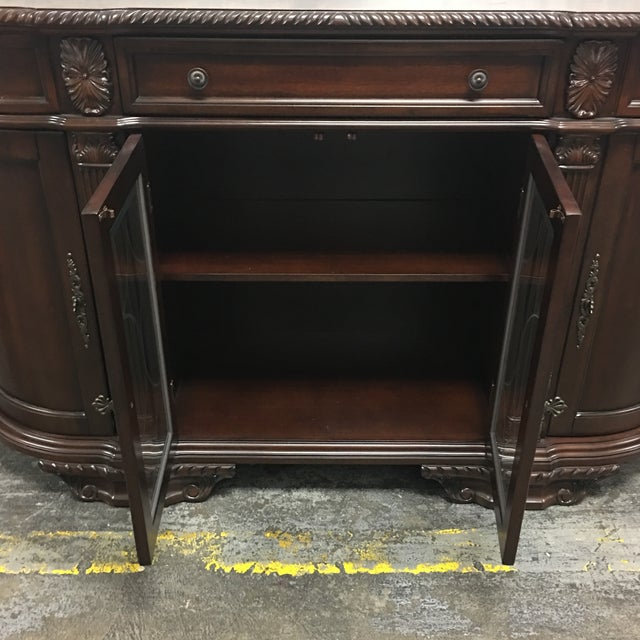 Bellagio Brown Cherry Finish Server Buffet Cabinet - Image 4 of 11