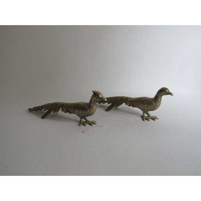 Image of Brass Peacocks - Pair
