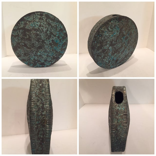 Studio Pottery Moon Sculpture Vase - Image 6 of 6