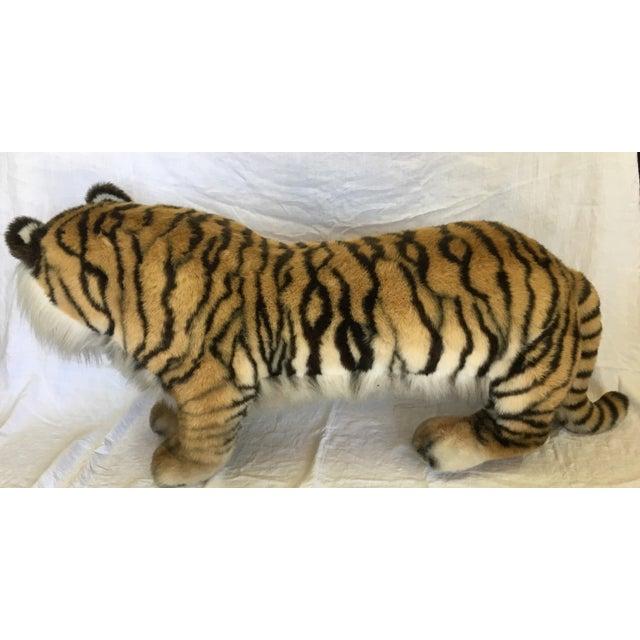 Image of Vintage Nordstrom's Advertising Display Life Sized Plush Tiger