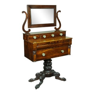 Classical Carved Mahogany Dressing Table
