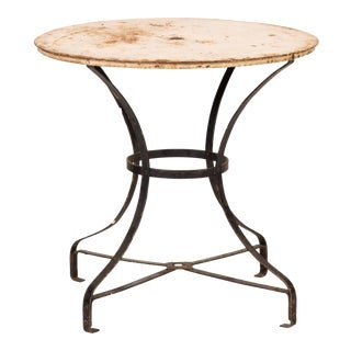 Rustic Antique Metal Garden Table