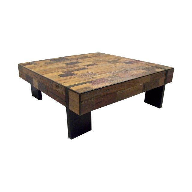 Large Reclaimed Mahogany Coffee Table Chairish