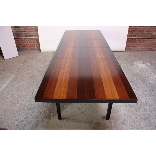 Milo Baughman Mixed Wood Dining Table For Directional - Image 2 of 11