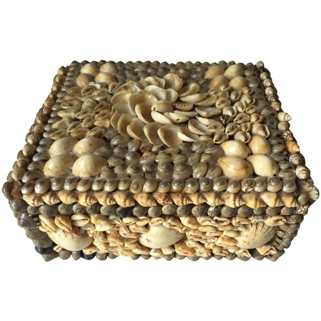 Vintage Shell-Encrusted Decorated Box - Image 1 of 7