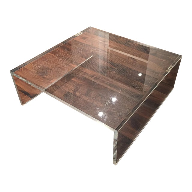 New York City Map Etched Acrylic Coffee Table - Image 1 of 6