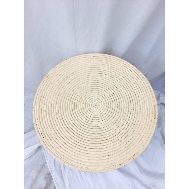 Vintage Wrapped Rattan Side Table with Storage - Image 6 of 8