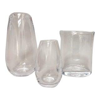 Simon Pearce Glass Vases Vessels - Set of 3