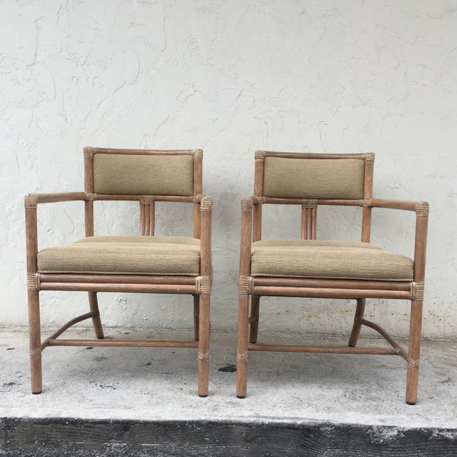 McGuire Manhattan Chairs - Set of 4 - Image 3 of 10