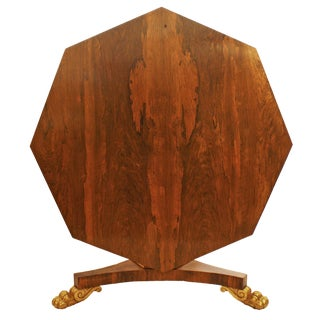 English Regency Period Tilt-top Center Table