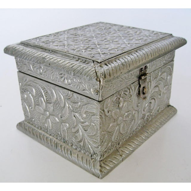 Vintage Embossed Keepsake Box - Image 4 of 8
