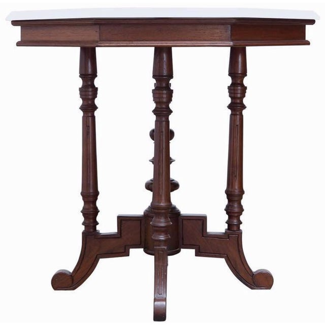 19th c english victorian marble top table chairish for Table th visible