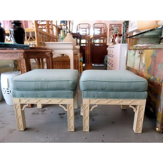 Chippendale Style Fretwork Benches - A Pair - Image 8 of 8