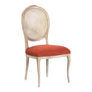 Sarreid Ltd. Abrella Oval Back White & Saffron Chairs - Set of 4