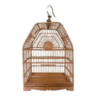Vintage Bamboo Birdcage