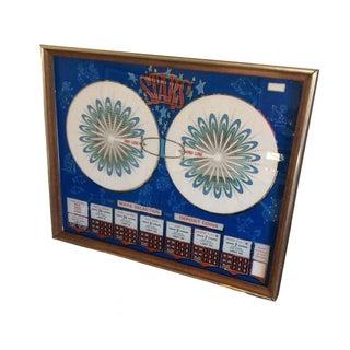 1970s Original Casino Slot Machine Mirror Art