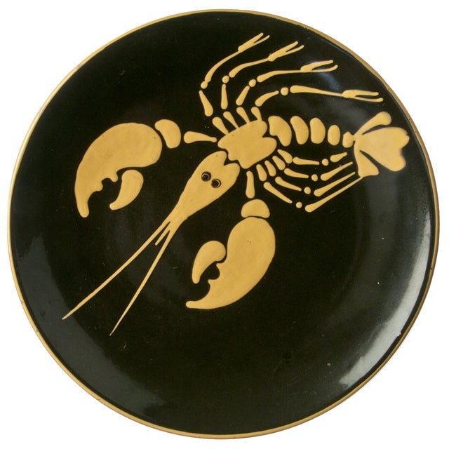 Image of Mid-Century Norwegian Lobster Plate