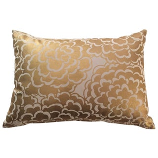 Gold Floral Pillow Cover
