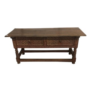 Peruvian Carved Console Table