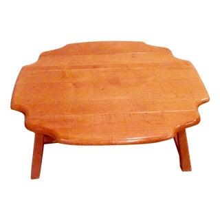 Vintage Maple Drop-Leaf Coffee Table