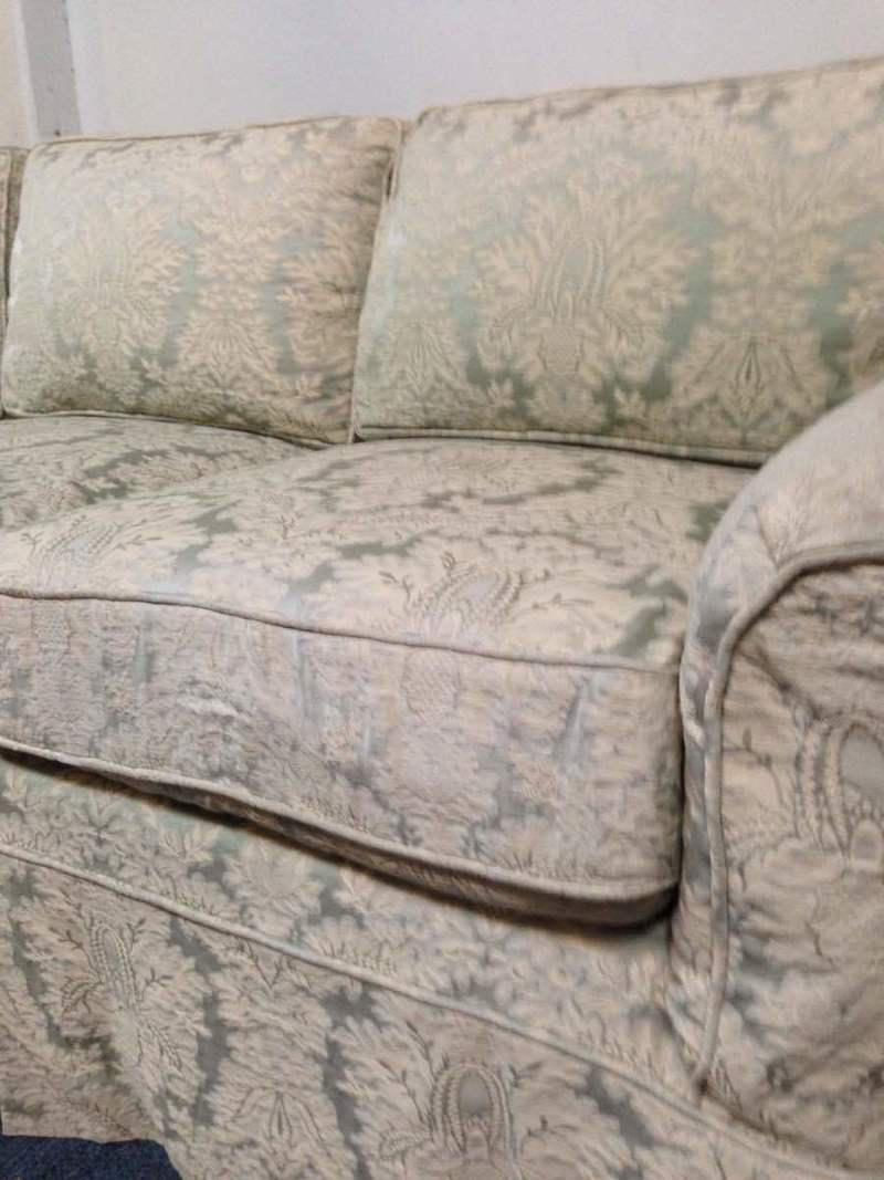 Noriega Furniture Vintage Upholstered Three Cushion Sofa   Image 4 Of 5