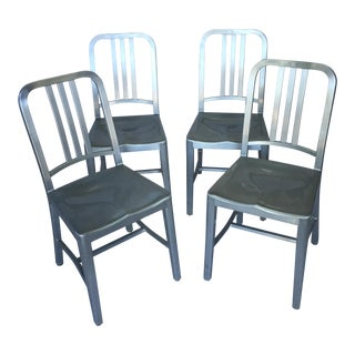Emeco 1006 Navy Side Chairs - Two Available