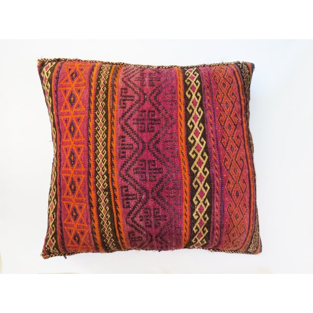Vintage Bohemian Afghan Pillow - Image 2 of 3