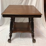 Image of Antique Claw Foot Oak Table