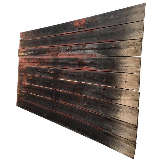 Antique Gray & Red Barn Door - Image 1 of 4